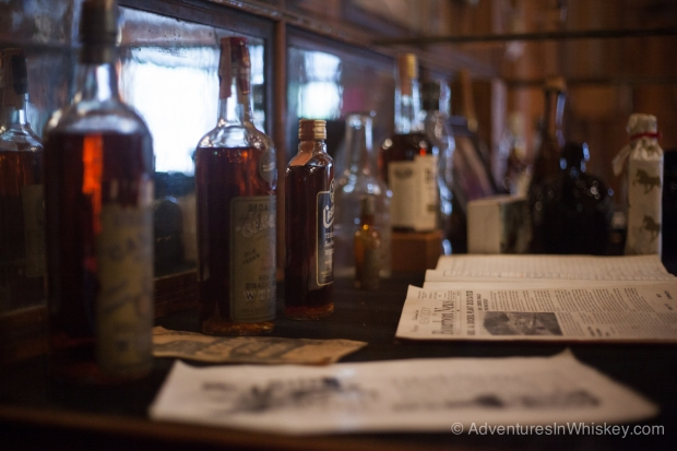 Old bottles and memorabilia at the Visitor's Center.