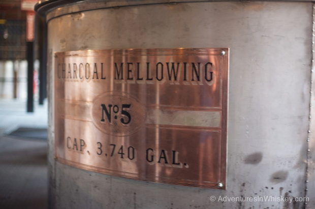 One of Cascade Hollow's charcoal mellowing vats.