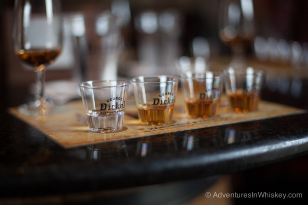 A flight of George Dickel.