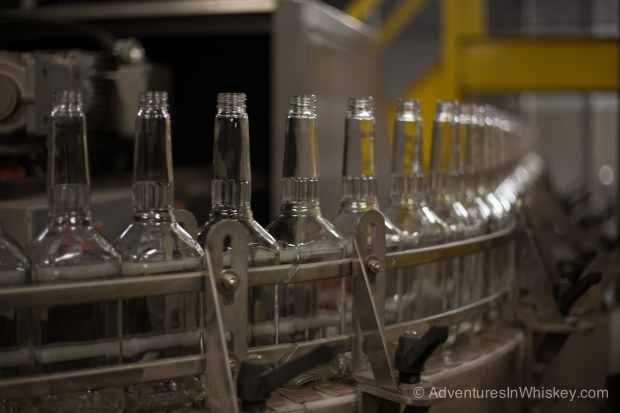 Only Heaven Hill's square bottled whiskies gets bottled on this line.