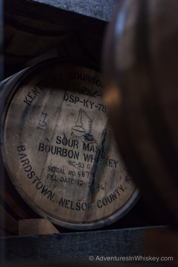 One of the many barrels aging at Willett.