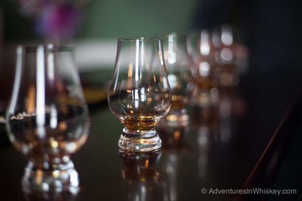Samples of Willett Pot Still bourbon.
