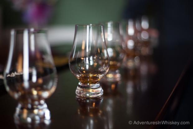 Samples of Willett Pot Still bourbon.